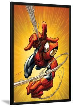 Ultimate Spider-Man No.160 Cover: Spider-Man Shooting Web by Mark Bagley