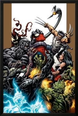 Ultimate Spider-Man No.71 Cover: Spider-Man, Wolverine, Green Goblin and Hulk by Mark Bagley