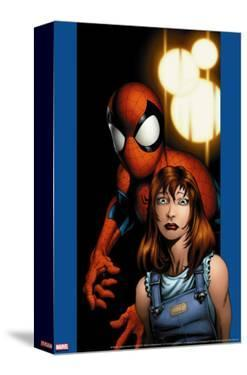 Ultimate Spider-Man No.78 Cover: Mary Jane Watson and Spider-Man by Mark Bagley