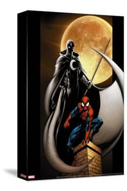 Ultimate Spider-Man No.80 Cover: Spider-Man and Moon Knight by Mark Bagley