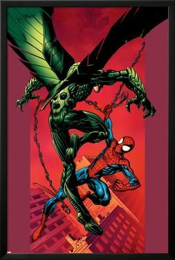 Ultimate Spider-Man No.90 Cover: Vulture and Spider-Man by Mark Bagley