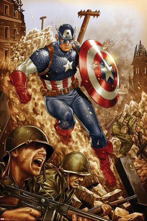 All-New, All-Different Avengers No.4 Cover and Featuring Captain America by Mark Brooks