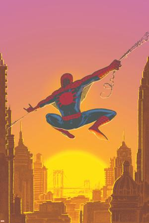 Spectacular Spider-Man No.27 Cover: Spider-Man Swinging by Mark Buckingham