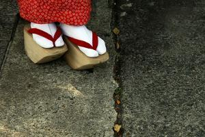 Wooden Shoes of Japanese Geisha by Mark Caunt