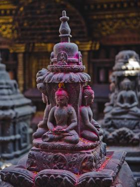 Buddha Statue at Swayambunath Temple, UNESCO World Heritage Site, Kathmandu, Nepal, Asia by Mark Chivers