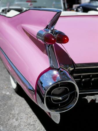 Close-Up of Fin and Lights on a Pink Cadillac Car by Mark Chivers
