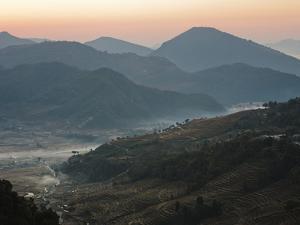 Farm Land, Pokhara Valley, Gandak, Nepal, Himalayas, Asia by Mark Chivers