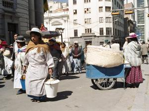 Independence Day Parade, La Paz, Bolivia, South America by Mark Chivers