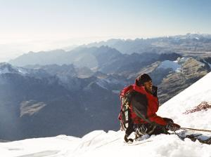 View from Summit, Huayna Potosi, Cordillera Real, Bolivia, South America by Mark Chivers