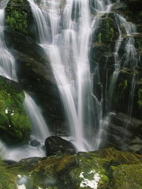 Small Waterfall Near the Milford Track on New Zealands South Island by Mark Cosslett