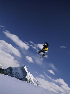 Snowboarding at Mount Norquay in Alberta by Mark Cosslett