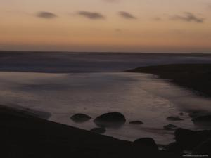 Twilight View of a Beach South of Carmel, California by Mark Cosslett