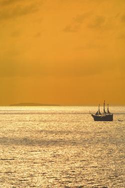 Sunset Cruise on a 'Pirate Ship' on Banderas Bay near Puerto Vallarta, Jalisco, Mexico by Mark D Callanan