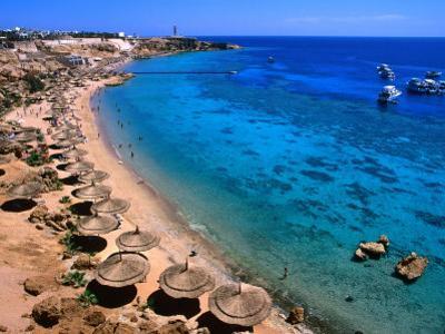 Blue Waters and Coral Reefs of Ras Um Sid, Sharm El-Sheikh, Egypt by Mark Daffey