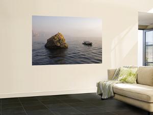 Dive Boat Moored Beside Octopus Rock by Mark Daffey
