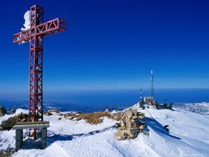 Faraya Mzaar Summit Cross in Kesrouane, Lebanon's Premier Ski Resort, Jabal Lubnan, Lebanon by Mark Daffey