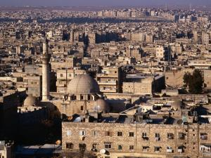 Overhead of the Roofs, Buildings, Domes and Towers of Aleppo from the Ramparts the Citadel, Syria by Mark Daffey