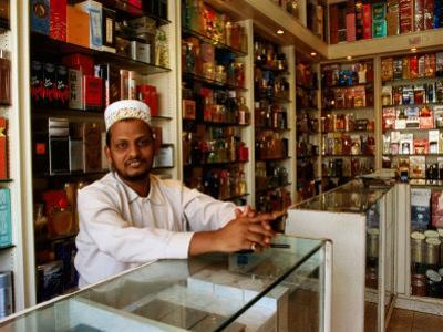 Perfume Shop Owner in Old Souq, Kuwait by Mark Daffey