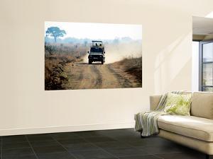 Safari Vehicle Kicking Up Dust by Mark Daffey