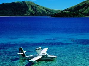 Seaplane in Water Between Yasawa and Sawa-I-Lau Islands, Fiji by Mark Daffey