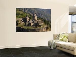 Tatev Monastery on Edge of Vorotan Canyon by Mark Daffey
