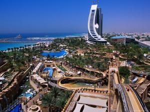 Wild Wadi Waterpark Spreads Around the Foot of the Jumeira Beach Hotel by Mark Daffey