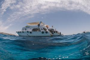 Dive Boats, Low Angle View, Ras Mohammed National Park, Red Sea, Egypt, North Africa, Africa by Mark Doherty