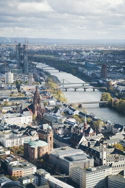 High Angle View of Frankfurt-Am-Main, Hesse, Germany, Europe by Mark Doherty