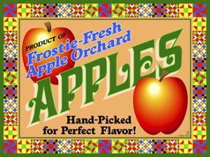 Apple Crate Label by Mark Frost