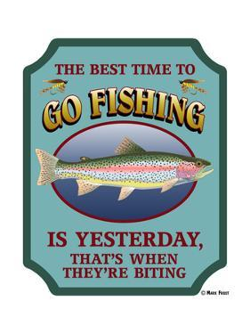 Fishing signs decorative art posters at for Best time to go fishing
