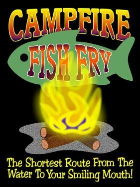 Campfire Fish Fry by Mark Frost