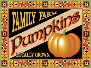 Pumpkin Crate Label by Mark Frost