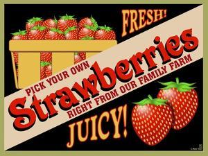 Strawberries Crate Label by Mark Frost