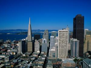 Alcatraz and Skyline, San Francisco, CA by Mark Gibson