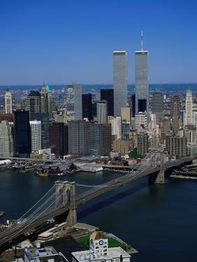 Brooklyn Bridge and East River, NYC by Mark Gibson