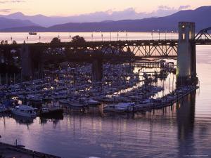 Burrard Bridge, Dusk, Vancouver, BC, Canada by Mark Gibson