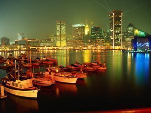Inner Harbor at Dusk, Baltimore, MD by Mark Gibson
