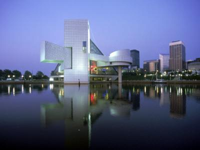 Rock and Roll Hall of Fame in Cleveland at Dusk by Mark Gibson