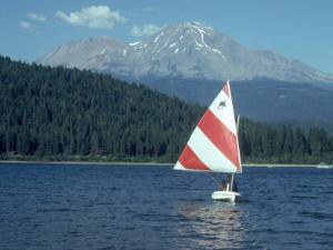 Sailing on Lake Siskiyou, Mt. Shasta, CA by Mark Gibson