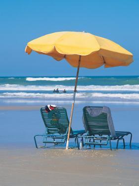 Yellow Beach Umbrella by Mark Gibson