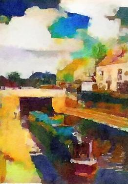 Canal Boat at Trent Lock by Mark Gordon