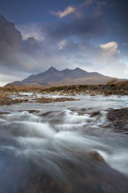 Black Cuillin Mountains with the River Sligachan, Isle of Skye, Inner Hebrides, Scotland, UK by Mark Hamblin