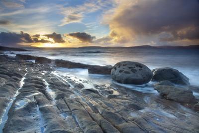 Coastal Landscape at Sunset, Near Elgol, Isle of Skye, Inner Hebrides, Scotland, UK, October 2010