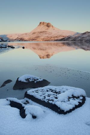 Stac Pollaidh at Dawn with Loch Lurgainn in Foreground, Coigach, Wester Ross, Scotland, UK by Mark Hamblin
