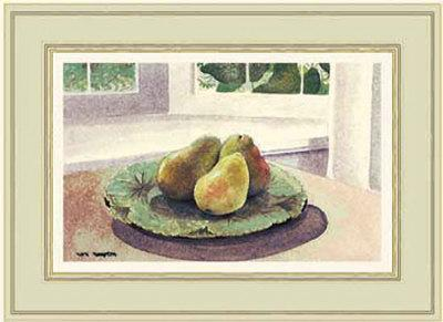 Still Life with Pears in a Sunny Window
