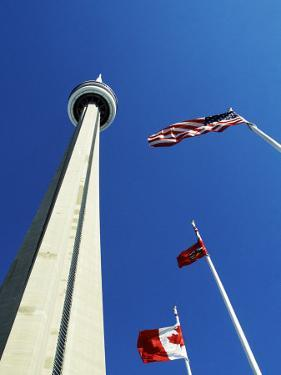 Cn Tower at 533 M or 1,815 Ft High, Canada's Wonder of the World, in Downtown Toronto by Mark Hannaford