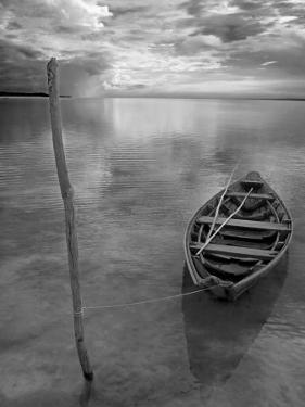 Dug Out Canoe Used by Local Fishermen Pulled Up on Banks of Rio Tarajos, Tributary of Amazon River by Mark Hannaford