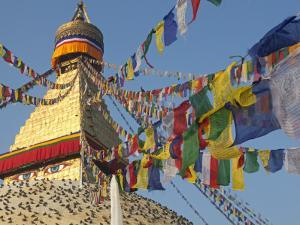 Nepal; Kathmandu, Boudinath Stupa by Mark Hannaford