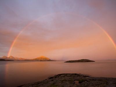 Nordland, Helgeland, A Rainbow at Midnight, Norway by Mark Hannaford