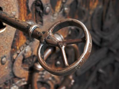 Sweden, Island of Gotland; a Antique Key and Lock Still in Use on the Medieval Church Door by Mark Hannaford